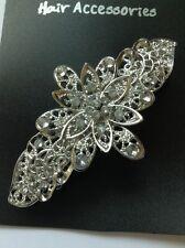 Un bel fiore in argento in metallo Clip Capelli Barrette