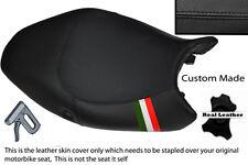 BLACK STITCH ITALIAN FLAG CUSTOM FITS DUCATI MONSTER 08-12  SEAT COVER