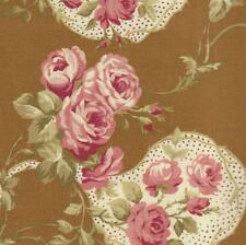 Robyn Pandolph Bowood House Brown Floral Shabby Rose Fabric Christmas 0067-4