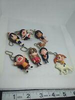 7pc Azumanga daioh figure keychain strap charm anime kawaii Japan lot