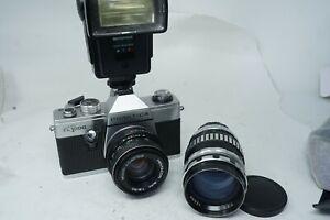 Spares & Repairs Praktica Super TL1000 & L 35mm Film SLR Cameras & 2x Lenses