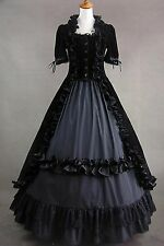 Women Gothic Lolita Cosplay Dress Sleeveless Cotton Evening Party Custom Made