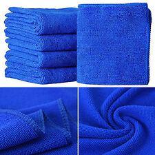 5 PCS Blue Micro Fibre Drying Towel Water Absorbant Car Care Cleaning Polishing