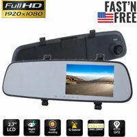 1080P HD Car Rearview Mirror DVR Camera Video Recorder Dash Cam G senor Night