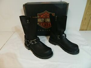 HARLEY DAVIDSON LEATHER BOOTS D96072 SIZE 10 (NEW)