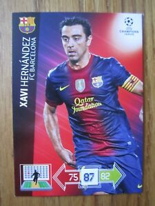 Champions League 2012/13 base cards - Barcelona x 11 incl Xavi, Villa, Fabregas
