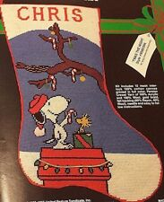 MALINA,Christmas,TWAS THE NIGHT,PEANUTS Stocking KIT 8500/004 RARE Needlepoint