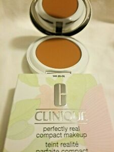 CLINIQUE Perfectly Real COMPACT MAKEUP 145 (D-G) 0.42 Oz / 12 G New in Box
