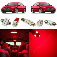 9x Red LED lights interior package kit for 2002-2006 Nissan Altima NA5R