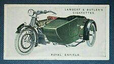 ROYAL ENFIELD   Motorcycle Sidecar Outfit  Original 1920's Vintage Card