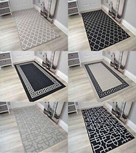 Long Grey Non Slip Door Mats Short Runner Rug Indoor Washable Thin Floor Rugs UK