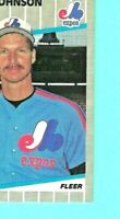 Randy Johnson RC ERROR 1989 FLEER #381 | MARLBORO MAN VISIBLE | RED & GRN | MT