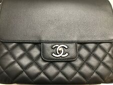 NEW 2017 Authentic CHANEL all about caviar black handbag w/tags