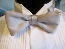 VINTAGE SILVER BOW TIE BANDED ME2