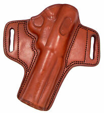 TAGUA BROWN LEATHER OPEN TOP OWB BELT HOLSTER - RUGER MARK III 3 5.5""