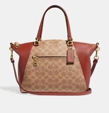 Coach 31666 Prairie Satchel Tan Rust Handbag Purse Bag