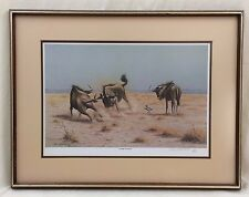 "Signed Rob MacIntosh 1984 Framed Print ""Score to Settle""  #5/950"