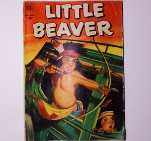Vintage LITTLE BEAVER #6 Dell comic book Good- VG Condition