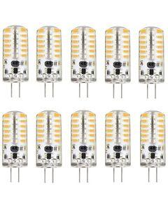 KINGSO G4 LED Bulb 10 Pack 3W Bi-Pin LED Light Bulb 48×3014 SMD 20W Halogen Bulb