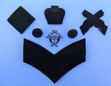British Army 7th Gurkha Rifles Cap/Rank Marksman Badges/Buttons & TRF