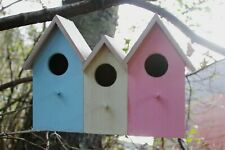 More details for 3 in 1 wild bird beach house wall mountable nesting hanging box wildlife garden