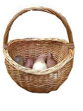 Shopping Basket Gift Basket w/handle Wicker Basekt Flower basket Farmer Basket
