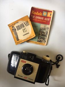 Kodak Brownie 127 Vintage Film Camera With Manual & Exposure Guide