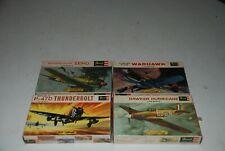 Revell Zero, P-40, P-47, Hurricane