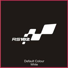 RS182 pare-chocs FLAG DECAL, vinyl, autocollant, graphiques, Renaultsport, Clio, N2049