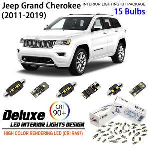 Interior LED Light Kit White Dome Light Bulbs for Jeep Grand Cherokee 2011-2019