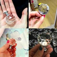 Crystal Glass Drawer Cabinet Cupboard Door Knob Furniture Handle Diamond
