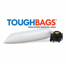 Insulation Vacuum Removal Bags (50 PACK ) - Won't Tear or Rip, Holds 84 cbft.