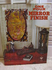 One Pour Mirror Finish Craft Course Book 1974 Polymer Coating Decoupage