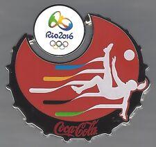 COCA-COLA RIO OLYMPICS 2016 PIN WOMEN'S SOCCER