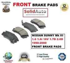 FOR NISSAN SUNNY Mk III 1.6 1.6i 16V 1.7D 2.0D 1990-2000 FRONT BRAKE PADS SET