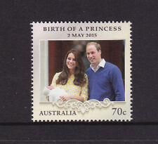 2015 Birth of  HRH Princess Charlotte of Cambridge - MUH 70c Stamp