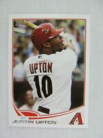 Justin Upton Arizona Diamondbacks 2013 Topps Baseball Card 110
