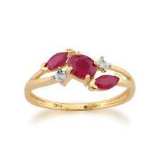 Anelli di lusso ovale in oro giallo con rubino