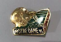 Notre Dame Irish vs Stanford Cardinal Football Game Day Lapel Pin 10-7-00