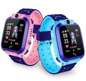 Kinder GPS-Telefon Uhr Armbanduhr Smart Watch Wasserdicht Tracker SOS Kids Watch