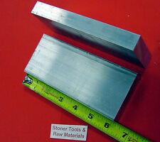 """2 Pieces 1"""" X 3-1/2"""" ALUMINUM 6061 FLAT BAR 6"""" long T6511 Solid Plate Mill Stock"""