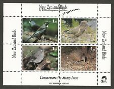 New Zealand Birds Cinderella Sheetlet MNH