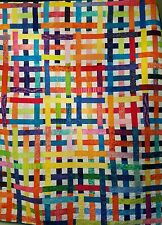 Rainbow Weave Bed Quilt