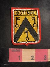 Belgium OSTEND Woven Front RED Felt Back Patch 93AD