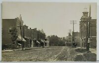 NY Whitney Point Broome Co RPPC Main Street c1907 Fire Dept, Stores, Postcard P3