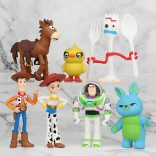 7Pcs Toy Story 4 Woody Lightyear Alien Forky Buzz Bunny Figure Cake Topper Gift