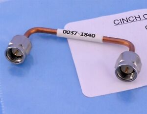 Cinch SMA Male to SMA Male Semi-Rigid .085 25 Ohm Coax Cable RF Loop