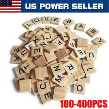 100-400PCS SCRABBLE WOOD TILES Full Sets Letters Wooden Replacement Pick