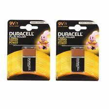 2x 9v Duracell Plus Power Alkaline Batteries