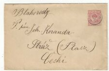 1901 Hungary to Straz,10f Postal Stationery Entire